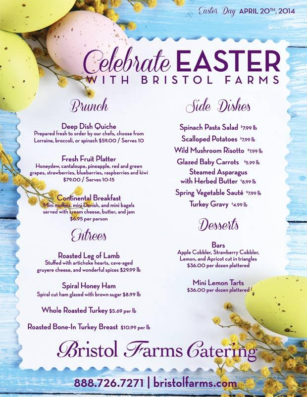 Easter brunch the brunch of all brunches west for Easter brunch restaurant menus