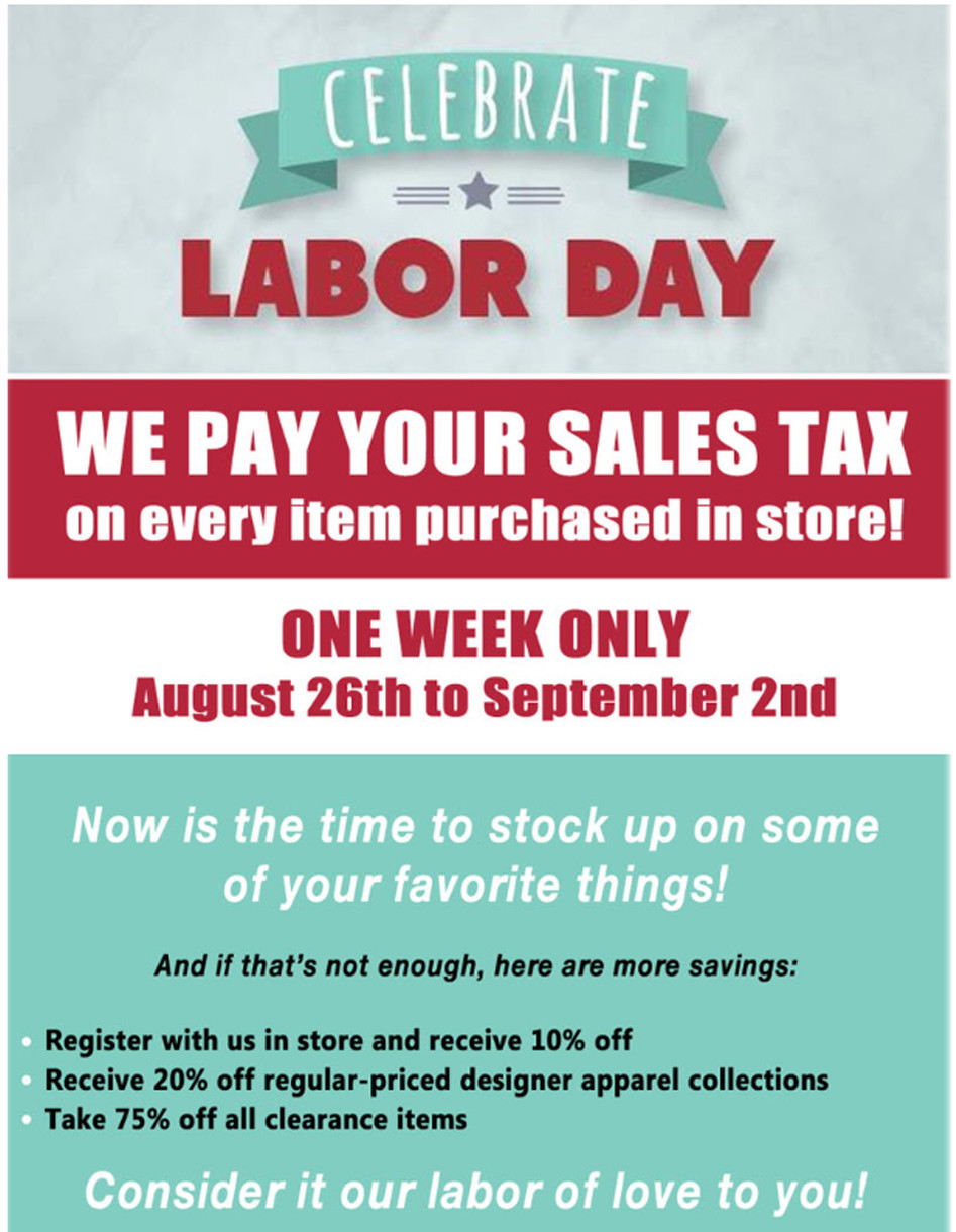 Long weekend spend it shopping the district 39 s sales for Labor day weekend furniture sales