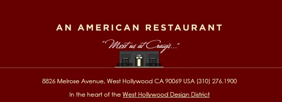 Craig's, cobranding with the West Hollywood Design District