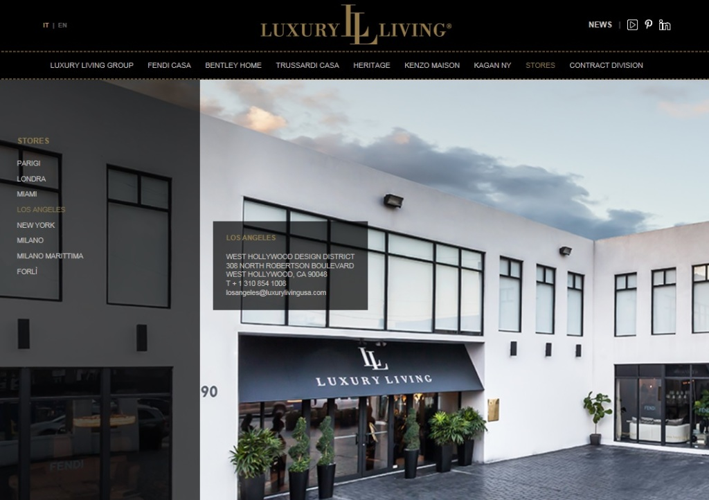 Luxury Living, cobranding with the West Hollywood Design District