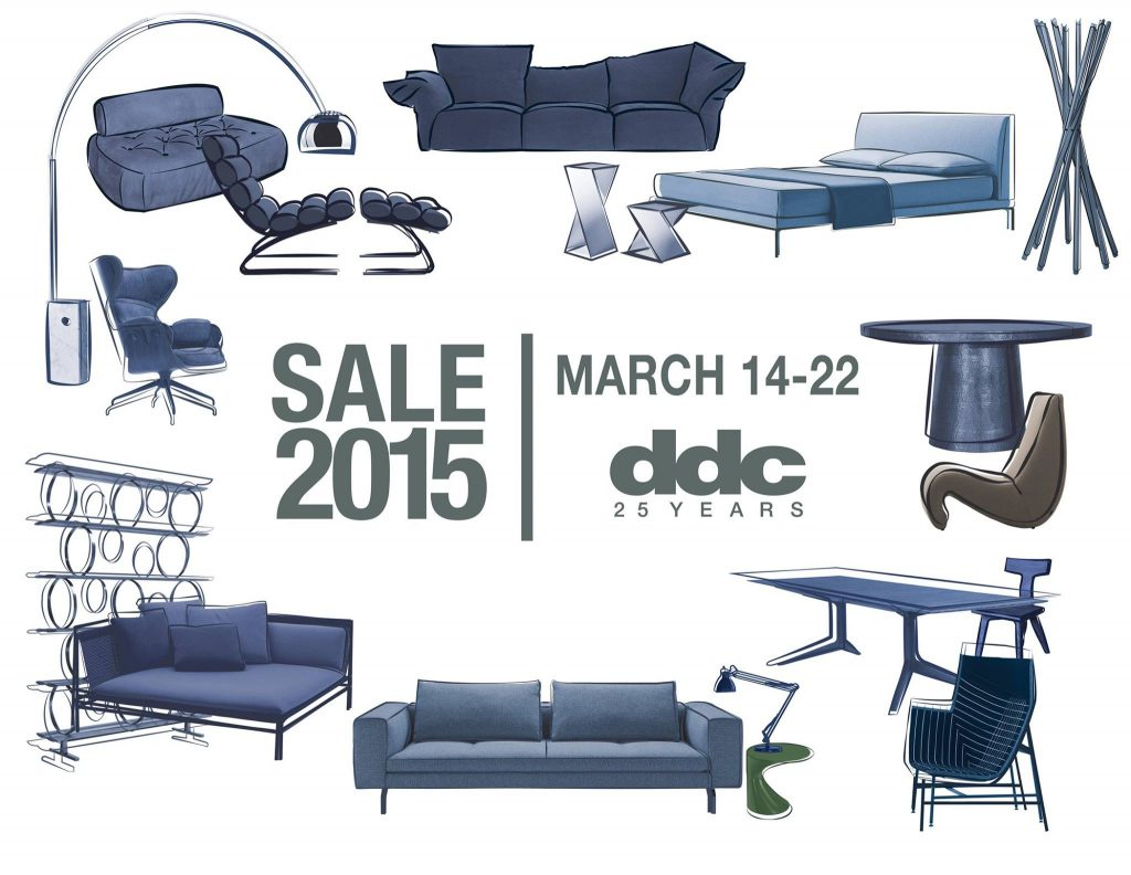 ddc annual sale, located in the West Hollywood Design District