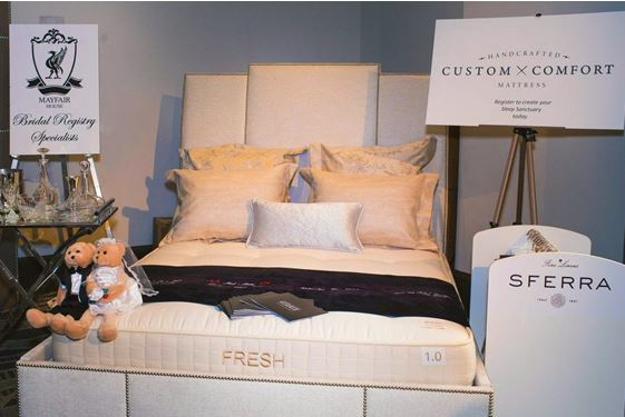 West Hollywood Design District's Custom Comfort Mattress presentation at Luxe Hotels Wedding Event,