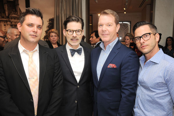 Corey Pernicano, Thomas Lavin, David Dalton, Thomas Diehl== Luxury Living Opens New Showroom in West Hollywood== Luxury Living Showroom, West Hollywood, CA== February 24, 2016== ©Patrick McMullan== Photo - DAVID CROTTY / PMC==